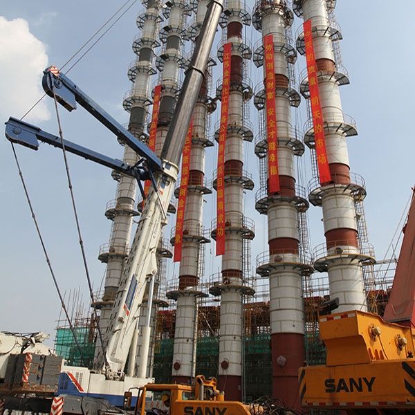 chemical tower manufacturing installation