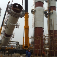 medium salt distillation column